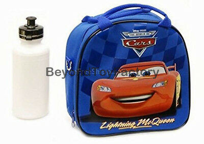 Disney Cars Lunch Bag Insulated w/ Shoulder Strap & Water Bo