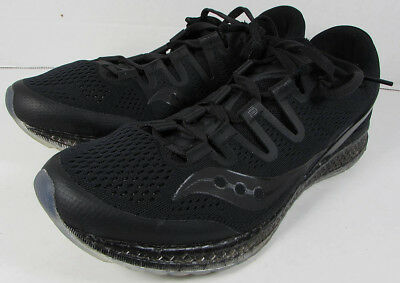$160 Saucony Mens Freedom ISO Running Sneaker Shoes, Black, US 11.5