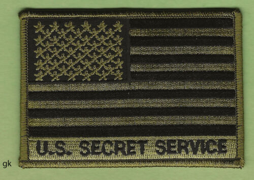 UNITED STATES USSS SECRET SERVICE FLAG SHOULDER PATCH  Subdued green
