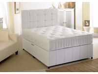 **BRAND NEW SINGLE / DOUBLE / SMALL DOUBLE / KING SIZE DIVAN BED AND MATTRESS ** Cyclone