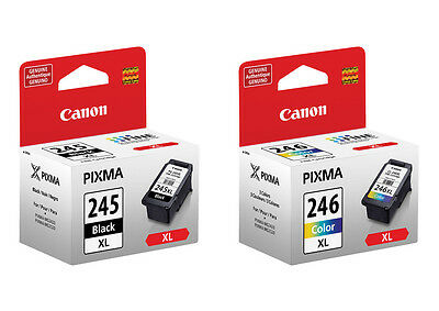 Canon Pg245 Xl Black Cl246 Xl Color Ink 245 246 For Ip282...