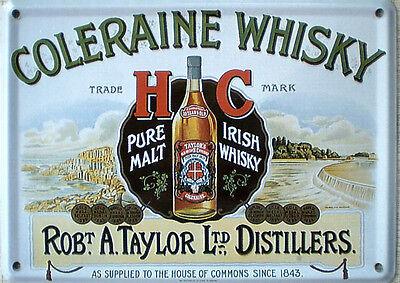 Mini-Blechschild Coleraine Whisky, 11 x 8 cm