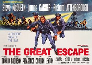 The Great Escape Steve McQueen ** MOVIE POSTER**  High Quality print