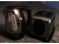 Russell Hobbs kettle and Crome toaster