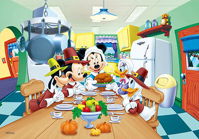 Mickey Mouse, Minnie, Donald, Goofy- Thanksgiving- 3D Lenticular Poster- 10x14