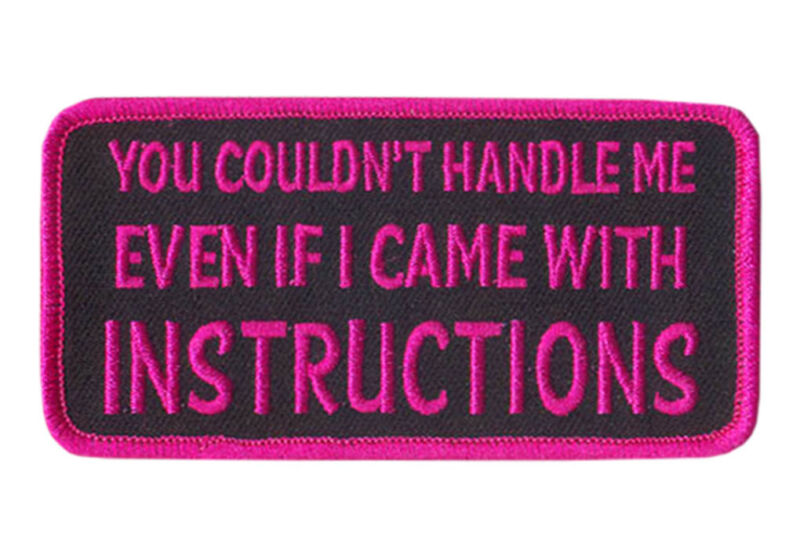 You Couldn't Handle Me  IRON ON 4 inch MC funny BIKER PATCH BY MILTACUSA