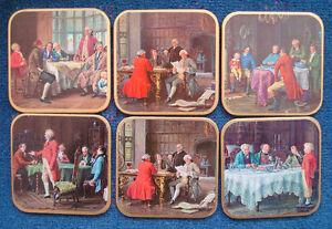 WIN-EL-WARE-mid-century-coasters-in-box-Colonial-statesmen-made-in-England