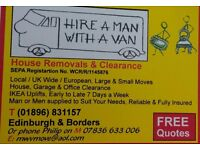 Hire a man with a van house removal and clearance service