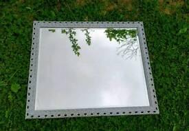 Large Grey Shabby chic heavy bevelled mirror