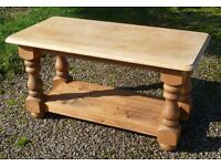 Solid Pine Coffee Table - Heavy, Chunky & Well Made