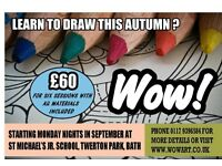 NEW DRAWING CLASS FOR BEGINNERS STARTING THIS SEPTEMBER IN BATH