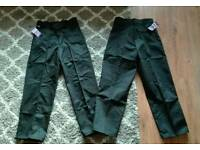 2x Portwest Ladies Black Work Trousers