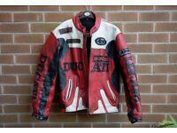 Ducati Racing Leather Motorcycle Padded Jacket