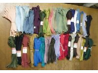 Clearance of zips, laces from