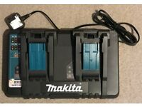Makita Double Charger, DC18RD. With USB port.