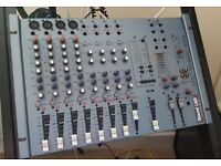 P.A. Mixing Desk, 4 speakers and all cables