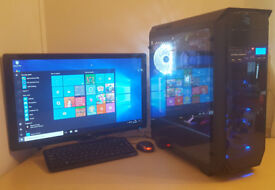 Gaming PC Computer Tower Intel i7 940 16GB / 240GB SSD 1TB HDD / RX550 / Win 10 Tower only