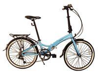 "(Ecosmo 24"" Wheel Lightweight Alloy Folding Bicycle Bike 7 SP) NEW Akin Bikes"