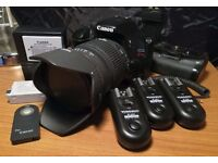 Canon 550D + Sigma f2.8 28-70mm Lens: DSLR Grip, Batteries + Remote too!