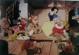 Snow White & the Seven Dwarfs Limited Edition Lithograph - Framed