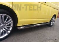 VW T5 T5.1 and T6 SWB LWB Slashed End Side Bars with Three Steps