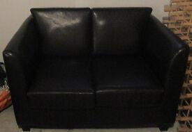 Petite sofa and armchair