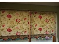 LAURA ASHLEY Roller Blinds X 2 Excellent condition. All fittings included.