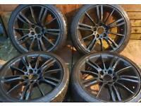 "BMW 3 Series Msport MV3 18"" alloy wheels - Genuine - Staggered - 5 x 120 - matt black - £280"