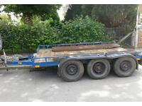 PLANT TRAILER TRANSPORTER 10ft X 6ft BED / 6 X HEAVY DUTY INDEPENDENT SUSPENSION UNITS