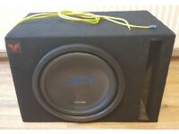 CAR SUBWOOFER ALPINE TYPE S 1500 WATT 12 INCH WITH PORTED BASS BOX TUNED TO 30kHz