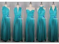 Turquoise Multiway Wrap Dresses - 6 included