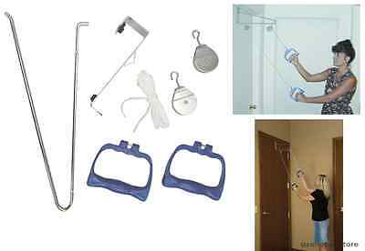 Shoulder Arm Exercise Pulley Set Physical Therapy Equipment Fitness Recovery New