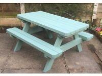 Picnic table for children. new handmade patio garden furniture