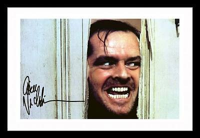 JACK NICHOLSON - THE SHINING AUTOGRAPHED SIGNED & FRAMED PP POSTER PHOTO