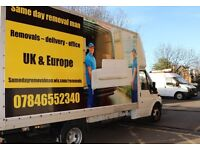 Same Day Delivery Removal Man and Van: Rubbish and office clearance etc
