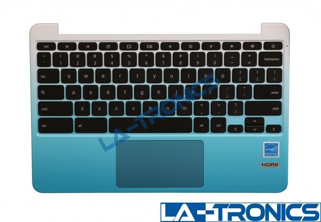 Genuine ASUS C201 C201P ChromeBook Palmrest Keyboard Touchpad Pearl/Light Bule