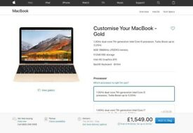 NEW Apple Macbook in GOLD, Retina 512GB SSD, FULL WARRANTY
