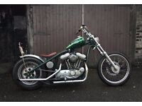 Harley Davidson Custom Sportster chopper bobber 1200 running with v5