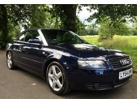 Audi A4 convertible in excellent condition with very low mileage for its age.