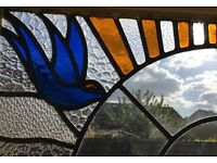 Art Deco Stained Glass French Doors c 1925