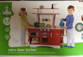 Early Learning Centre Retro Diner Wooden Kitchen Brand New