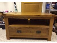 Harvey's furniture Toulouse oak tv unit