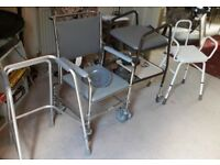 A walker frame, commode, and other disability aids—free!