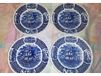 4 X DECORATIVE PLATES (Alfred Meakin) Staffordshire