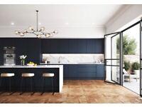 Lucente Handle-less Matt 22 mm Thick Modern - 7 Kitchen Cabinets Offer - NEW -