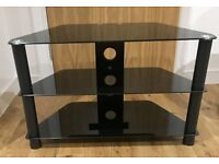 Black TV Stand/TV Cabinet with Black shelves for up to 36 inch LCD Plasma LED TV