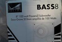 1 BASS SPEAKER 8in WOOFER  HANDELS  100 WATTS OF P[OWER