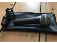 Shure SM58 with bag, XLR cable and mic clip LIKE NEW