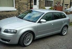 Audi a3 sport back 2.0 tdi. 6 speed. Bbs alloys half leather. Full history 2 owners. Very clean car