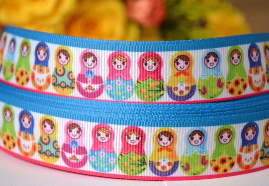 2m Russian Dolls, Matryoshka Printed Grosgrain Ribbon, Hair Bows Ribbon, 22mmin Norwich, NorfolkGumtree - 2m x 22mm Russian Dolls Grosgrain Ribbon This listing is for 2m (200cm) of printed grosgrain ribbon. Perfect for any craft projects, gifts wrapping, hair bows, toys. The width 22mm Orders over 2 meter will be supplied in a continuous length. If you...